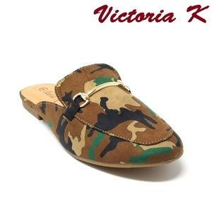 Victoria K Shoes - Women Slip-on Mules Slippers, HK-7083, Beige